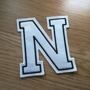 Motif Patch Font 02 Double Varsity Letters & Numbers