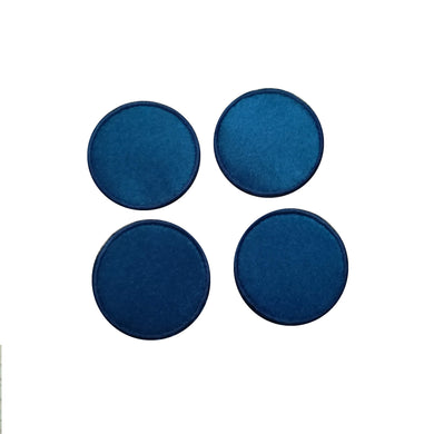 Motif Patch Satin Basic Shapes Round Circles *Choice of different sizes*