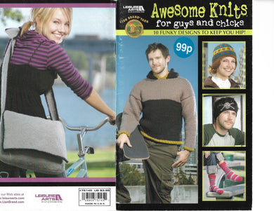 Knitting Pattern Booklet - Awesome Knits for Guys an Chicks