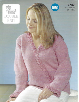 Knitting Pattern Leaflet King Cole 2737 DK Ladies Sweaters