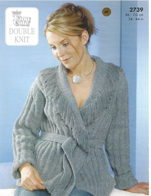 Knitting Pattern Leaflet King Cole 2739 DK Ladies Jackets & Hat