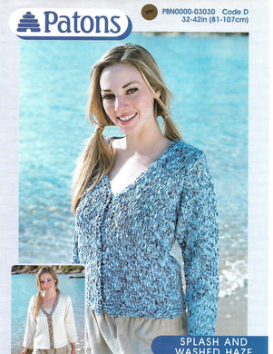 Knitting Pattern Leaflet Patons 3030 Ladies V Neck Cardigans