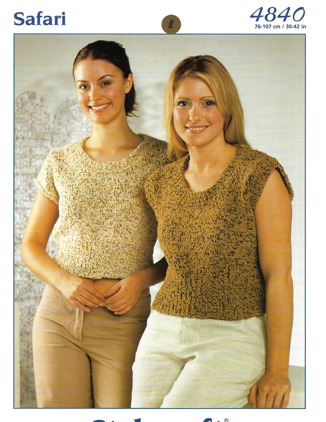 Knitting Pattern Leaflet Stylecraft Safari Chunky Ladies Tops