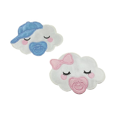 Motif Patch Cute Baby Themed Clouds