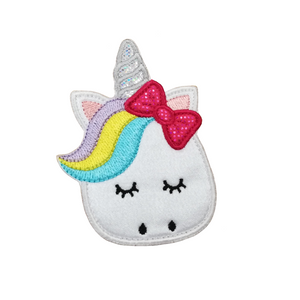 Motif Patch Cute Unicorn with Bow