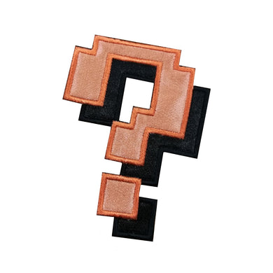 Motif Patch Cosplay Pixel Question Mark with Shadow