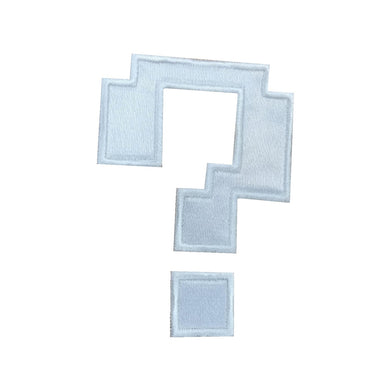 Motif Patch Cosplay Pixel Question Mark