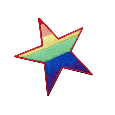 Motif Patch Quilted Patchwork Rainbow Star