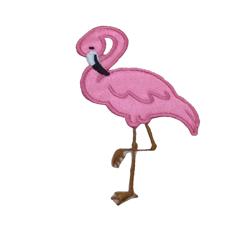 Motif Patch Flamingo Standing One Leg Cerise