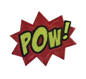 Motif Patch Large Comic Book Novelty POW!