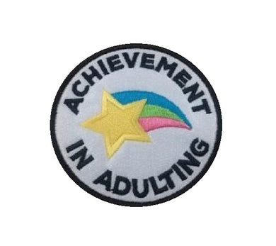 Motif Patch Quirky Achievement in Adulting