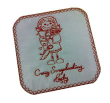 Motif Patch Crazy Scrapbooking Lady Tile white / red