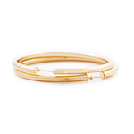 GOLD HOOP EARRINGS - 66 mm