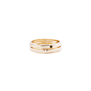 white topaz gold ring, stacking rings, serafin jewellery