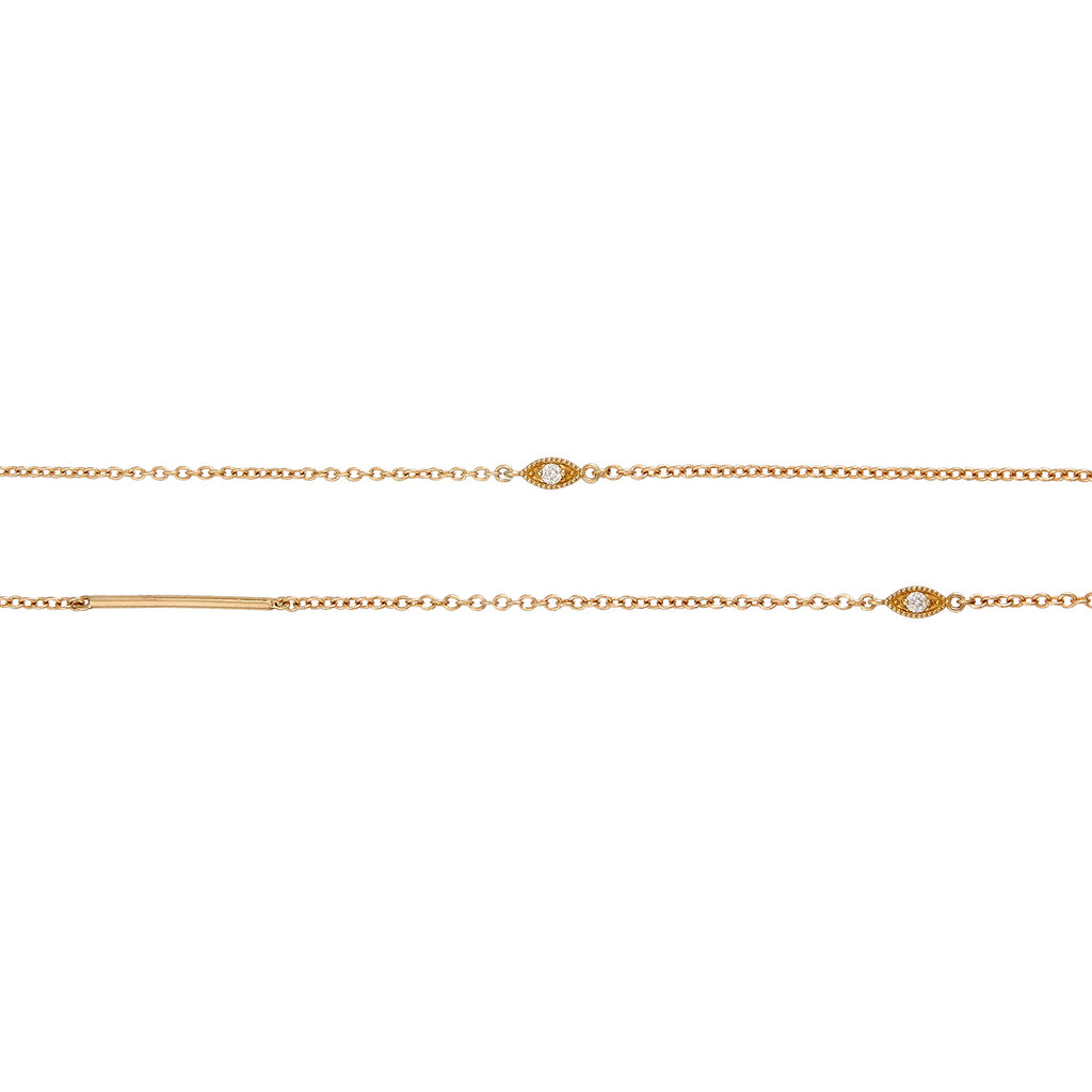 Infinity Gold & Diamond Necklace
