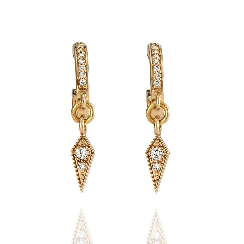 Diamond Dagger Drop Earrings