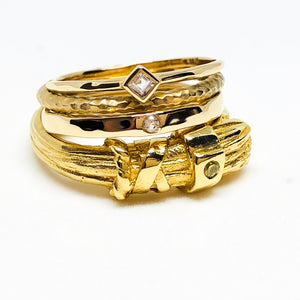 stacking rings, gold rings, serafin jewellery