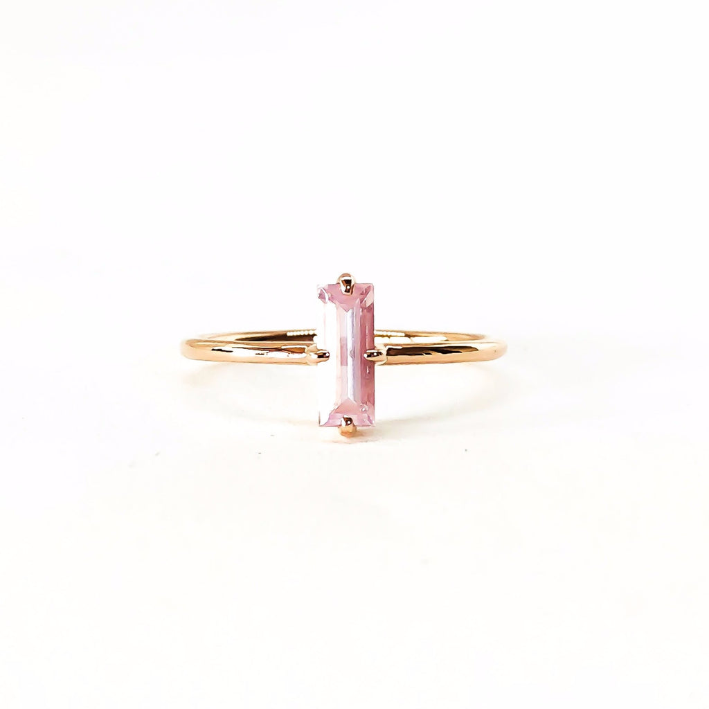 rose quartz rose gold ring, small ring, stacking ring, rings, gold jewellery, gold jewelry, diamond jewellery, diamond jewelry