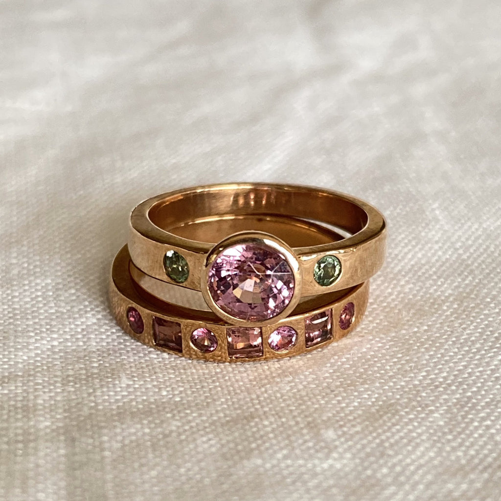 Lily Pink Sapphire Ring