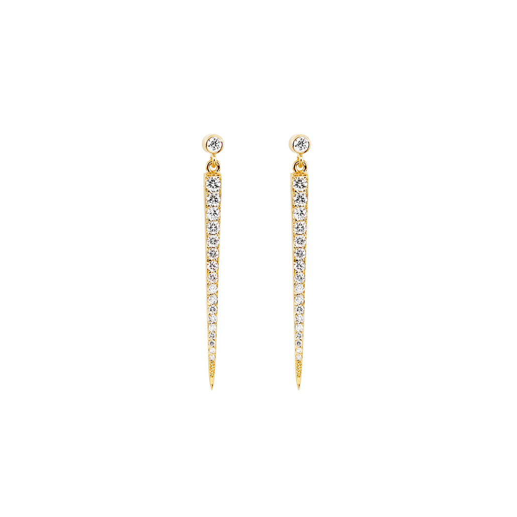 Diamond Stiletto 18ct Earrings