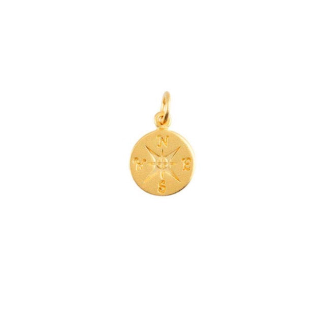 24CT Gold  Compass Charm