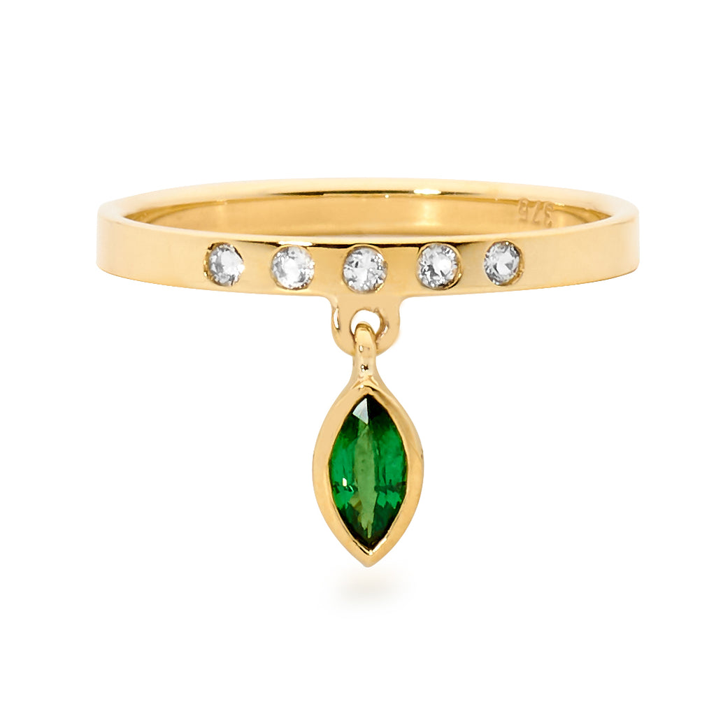 emerald ring, diamond ring, stacking ring, serafin jewellery