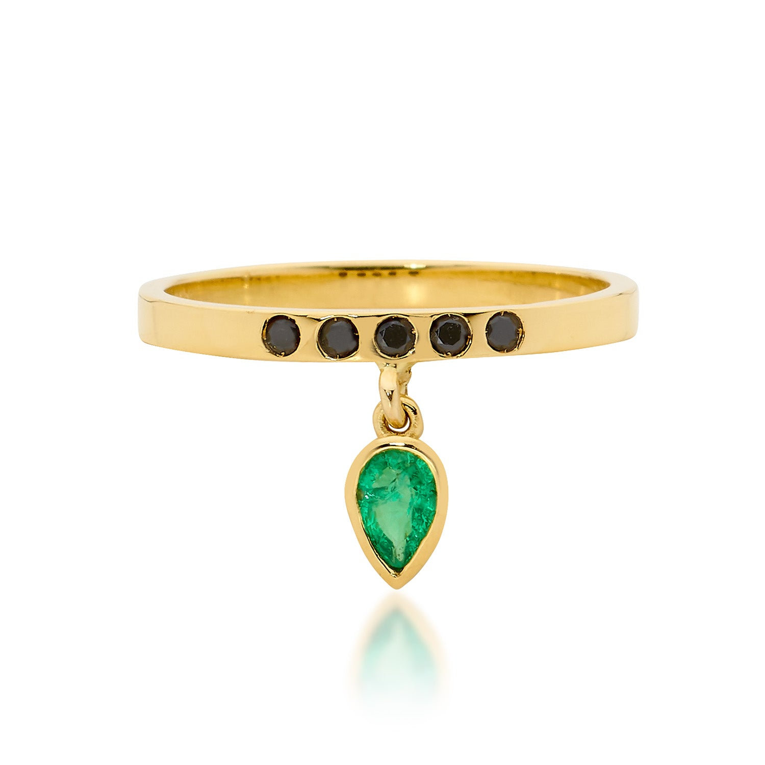 green emerald drop, emerald ring, small ring, stacking ring, rings, gold jewellery, gold jewelry, jewellery store, online jewelry store, jewellers