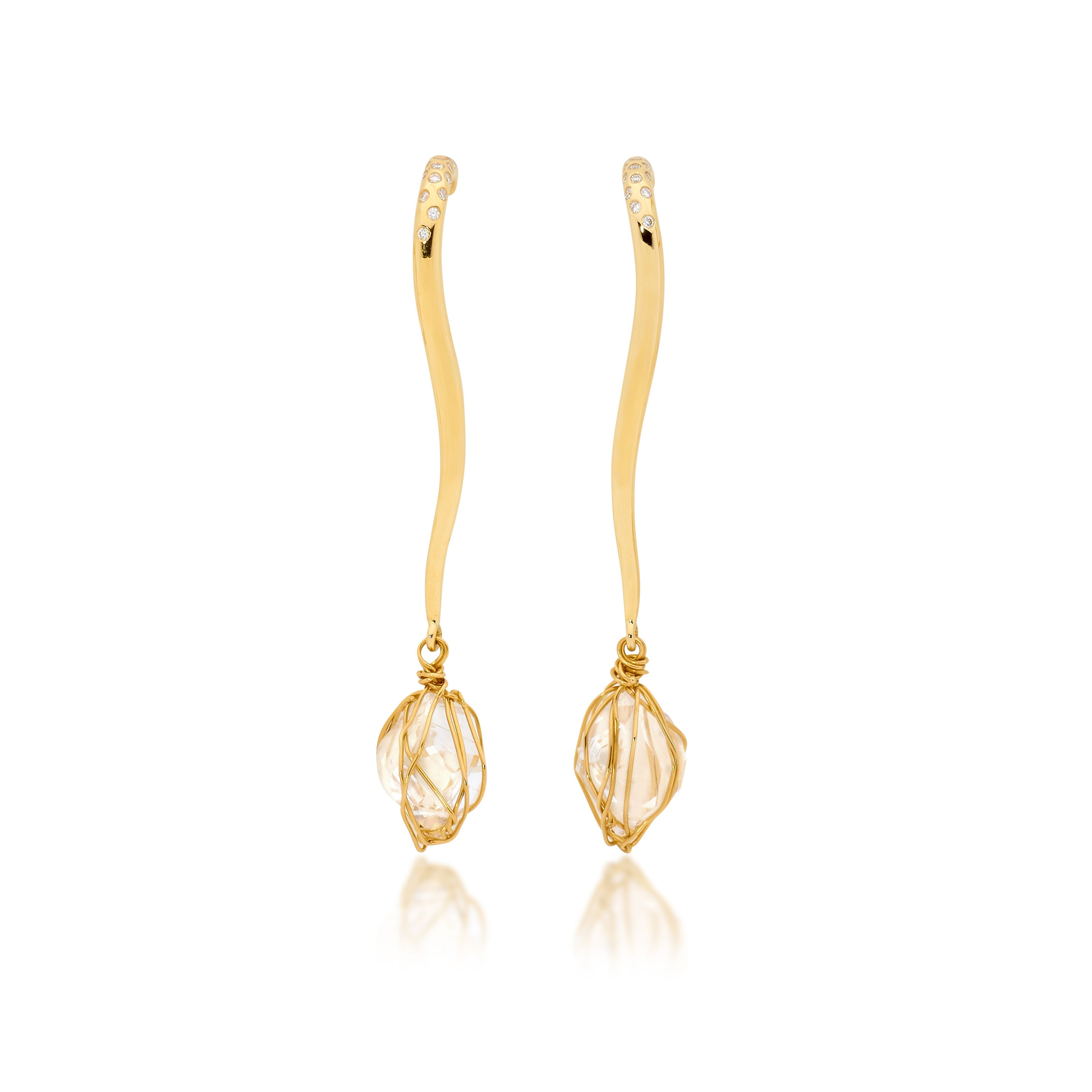 SHORT BRANCUSI EARRINGS