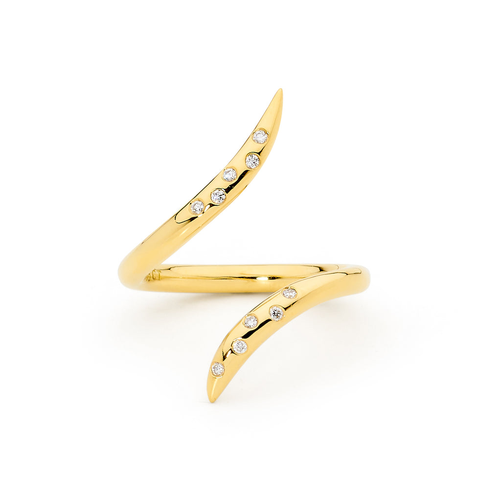 gold and diamond ring, serafin jewellery