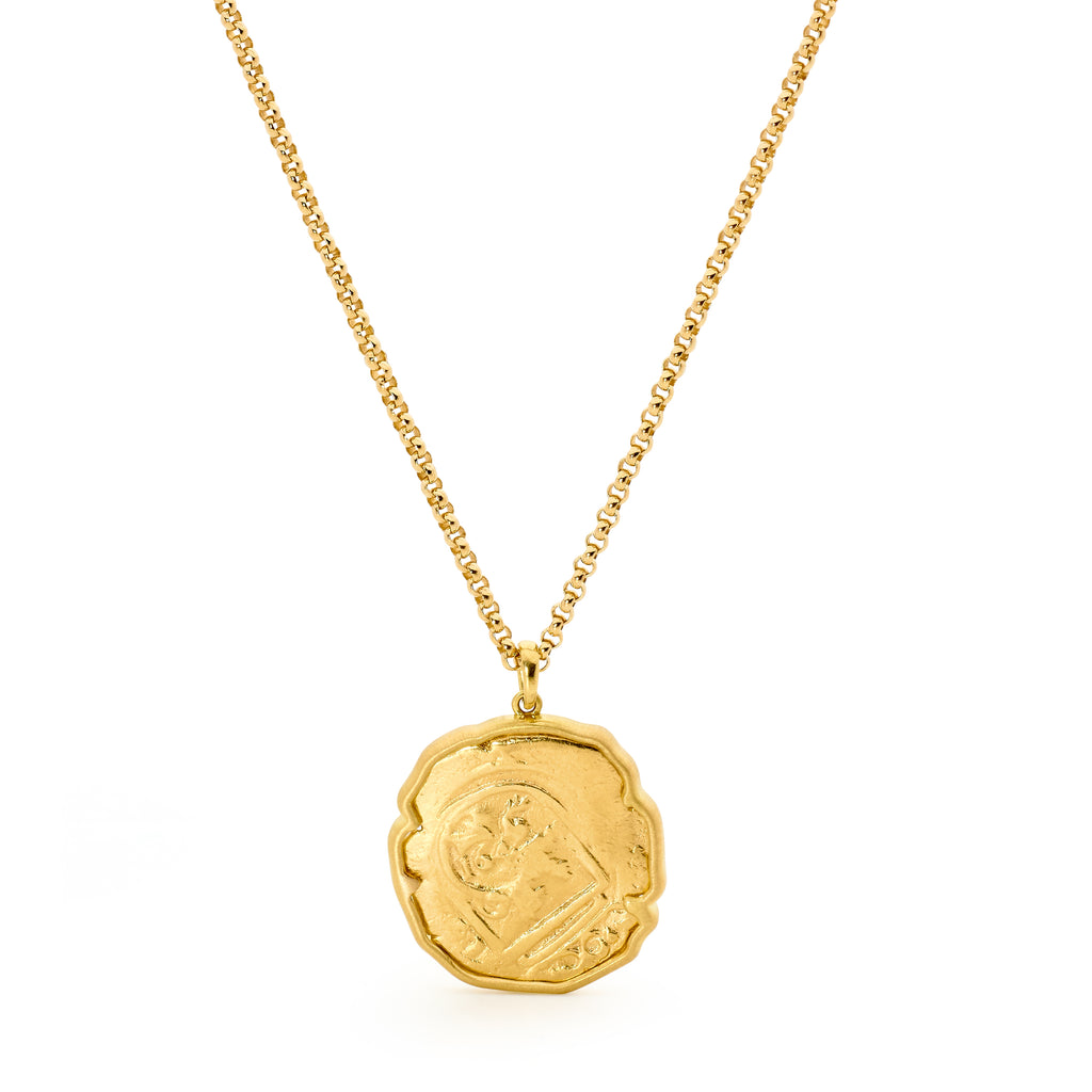 18ct Gold Spanish Coin Necklace
