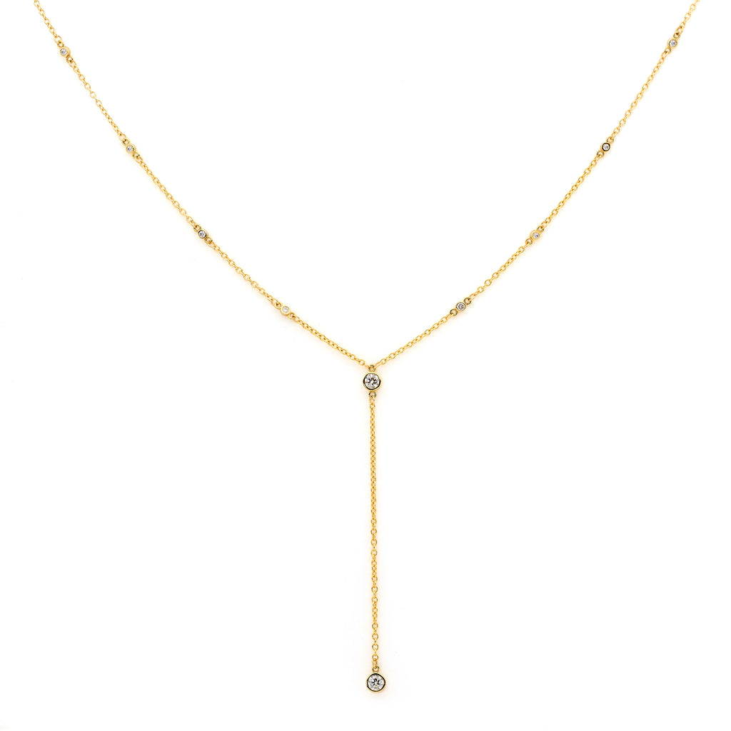 10 Diamond Amira Y Necklace