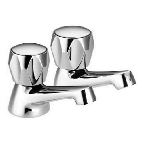 "Lavata 1/2"" Contract Basin Taps Pr. Cp by Lavata from Heat Group Supplies"