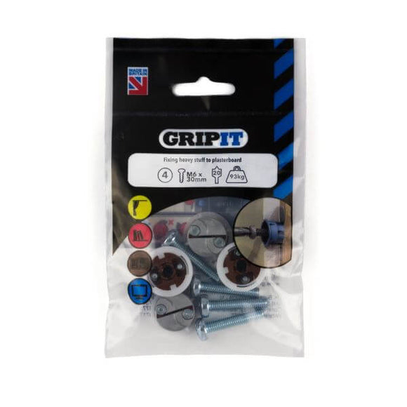 Gripit 20mm Brown Pack Of 4