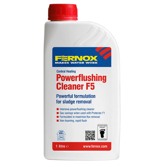 Fernox Powerflushing Cleaner F5 (1L Liquid) by Fernox from Heat Group Supplies