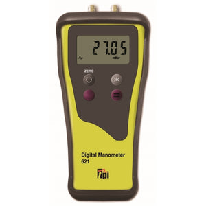 TPI Dual Input Digital Manometer C/W Rubber Boot by TPI from Heat Group Supplies