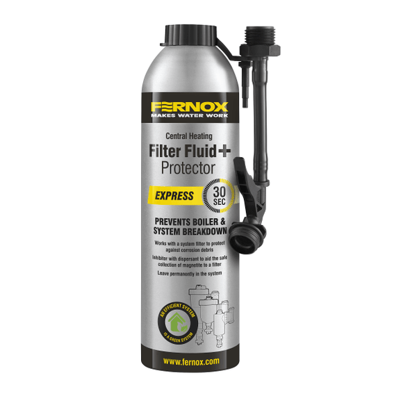 Fernox Filter Fluid+ Protector Express (400ml) by Fernox from Heat Group Supplies