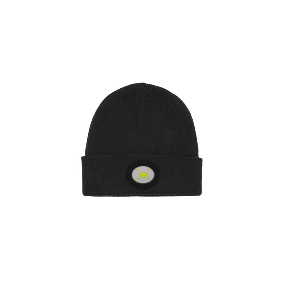 Unilite Black Beanie Hat With 150 Lumen Quad Samsung SMD LED USB Rechargeable Light