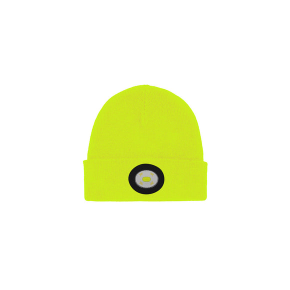 Unilite Yellow Beanie Hat With LED USB Rechargeable Light