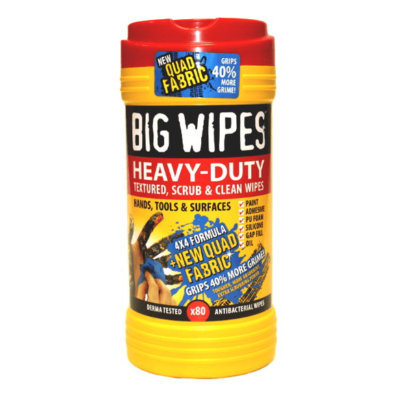 Big Wipes Red Top 4x4 Heavy Duty Hand Wipes by Big Wipes from Heat Group Supplies