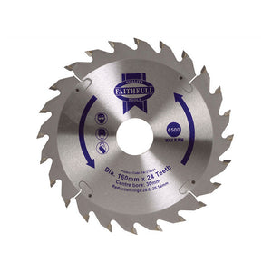 Faithfull TCT Circular Saw Blade 160 X 30 X 24T by Faithfull from Heat Group Supplies