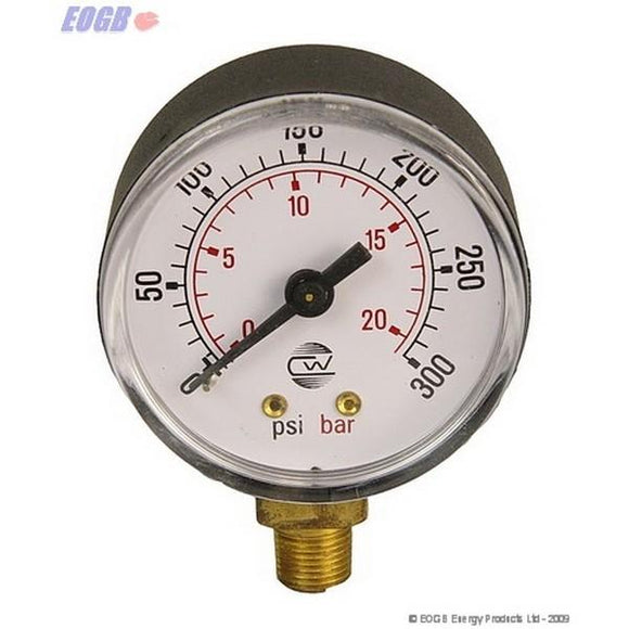 Pressure Gauge 0-300 Psi 1/8-Bottom Entry Abs Eogb Oil Spares