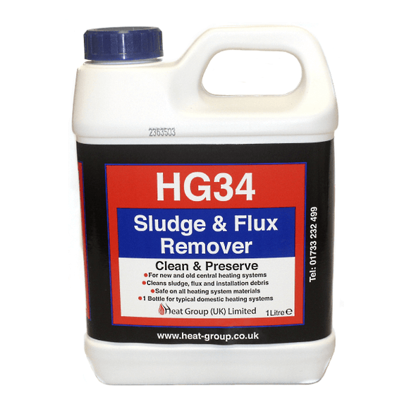 Heat Group HG34 Sludge & Flux Remover - 1Ltr by Heat Group from Heat Group Supplies