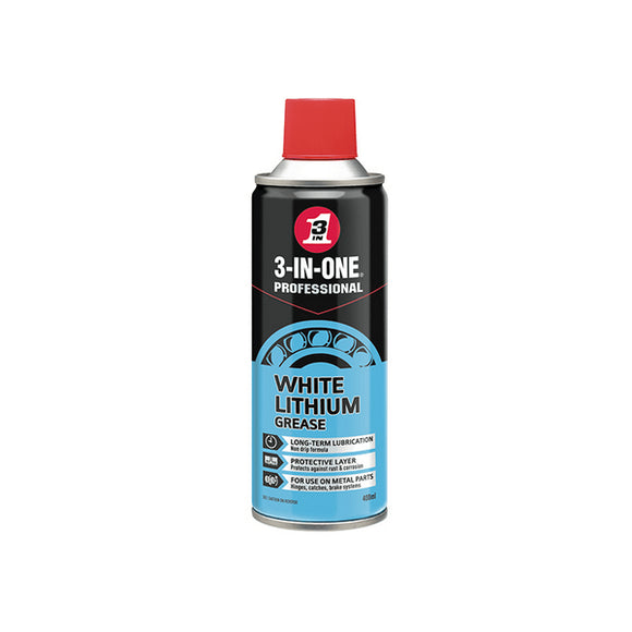 3 In 1 White Lithium Grease 400ml by 3-In-One from Heat Group Supplies