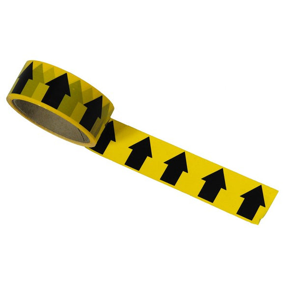 Regin Black/Yellow Arrow Direction Tape - 33M by Regin from Heat Group Supplies