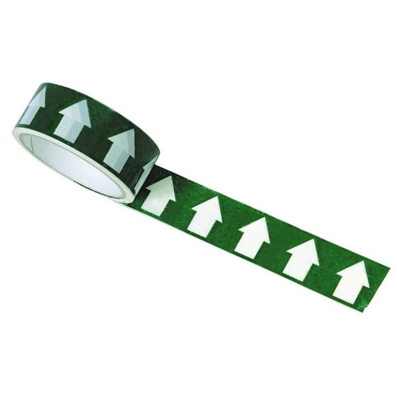 Regin White Arrow On Green Tape - 33M by Regin from Heat Group Supplies