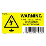 Regin Warning Connection Do Not Remove Sticker - Pack Of 8 by Regin from Heat Group Supplies
