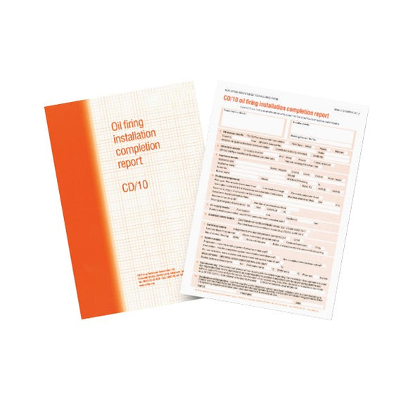 Regin Oftec CD/10 Installation Report Pad by Regin from Heat Group Supplies
