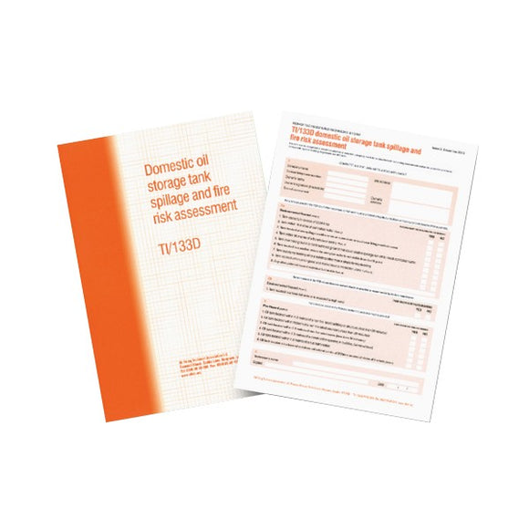Regin Oftec TI/133 Risk Assessment Report Pad by Regin from Heat Group Supplies