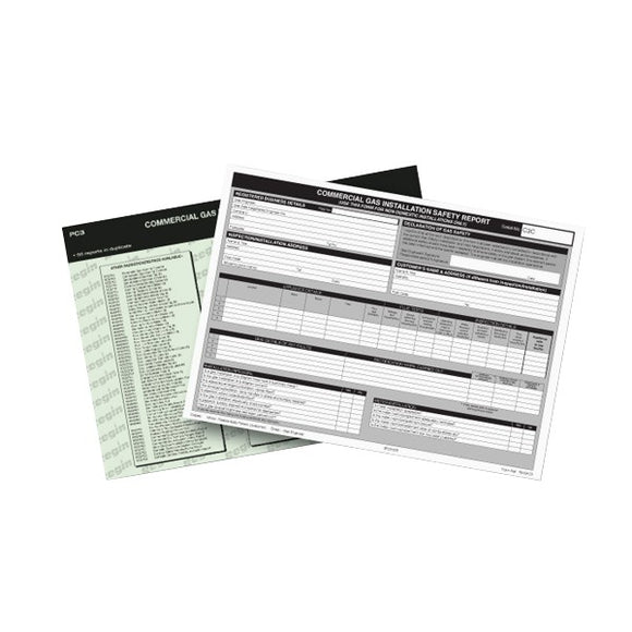 Regin Commercial Gas Installation Report Pad by Regin from Heat Group Supplies
