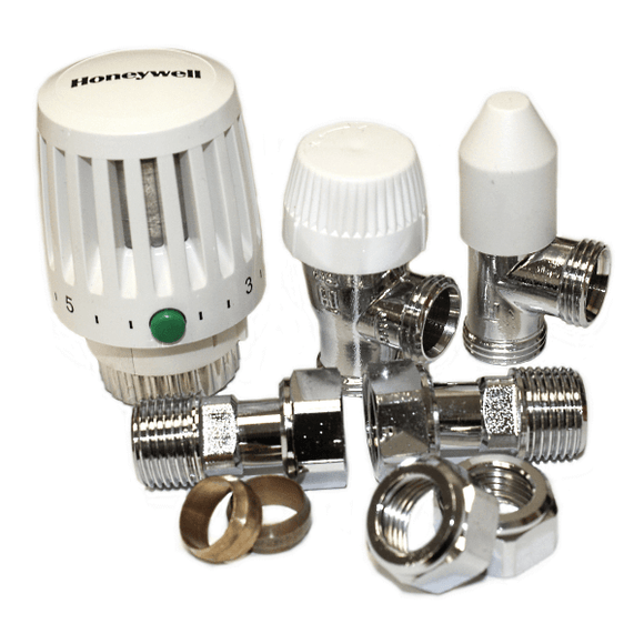 Honeywell VTL120 Valencia 15mm Angled TRV & Lockshield